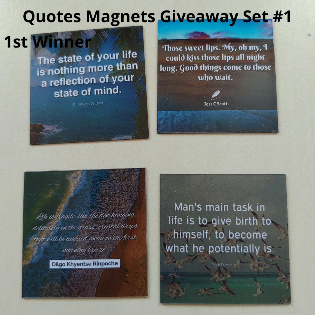 Giveaway Quotes Magnets Set 1 - 1st winner