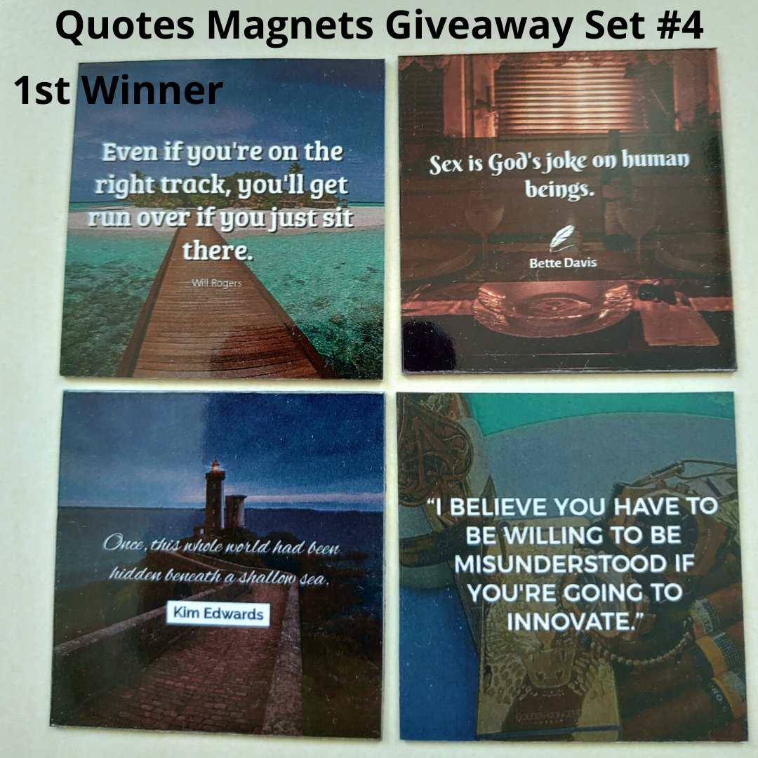Giveaway Quotes Magnets Set 4 - 1st winner