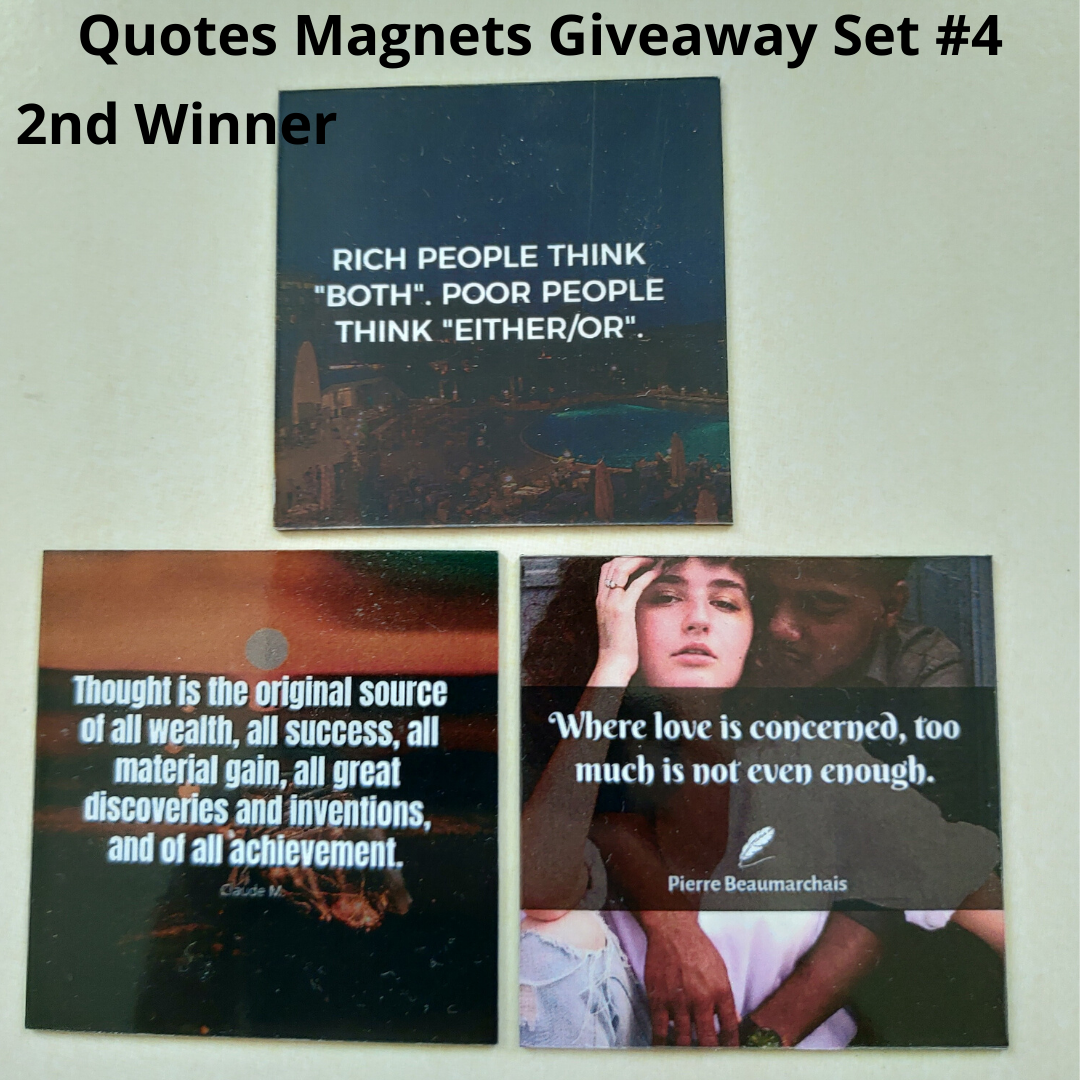 Giveaway Quotes Magnets Set 4 - 2nd winner