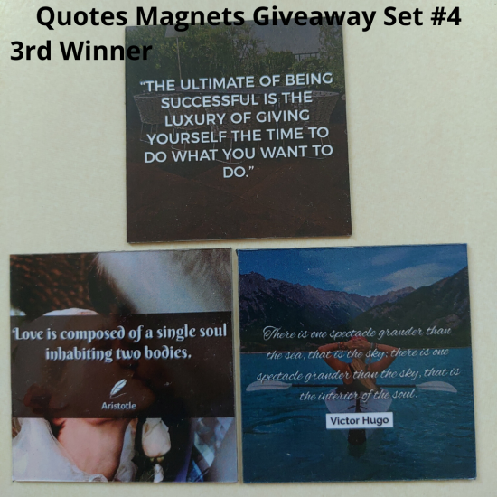 Giveaway Quotes Magnets Set 4 - 3rd winner