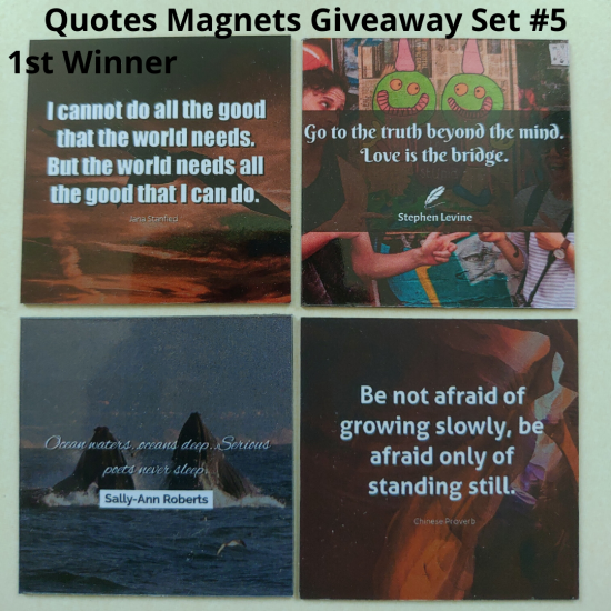 Giveaway Quotes Magnets Set 5 - 1st winner