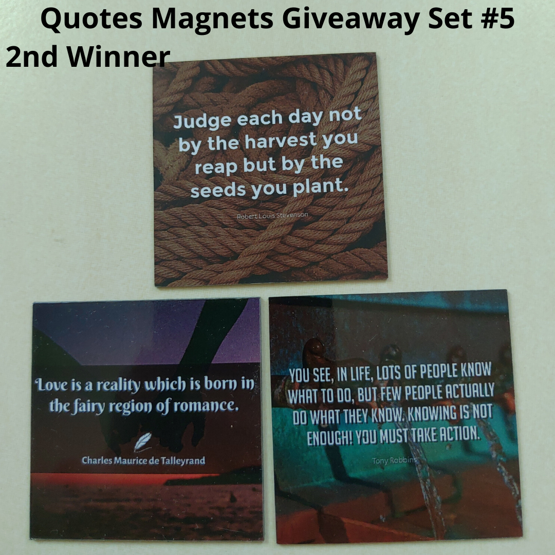 Giveaway Quotes Magnets Set 5 - 2nd winner