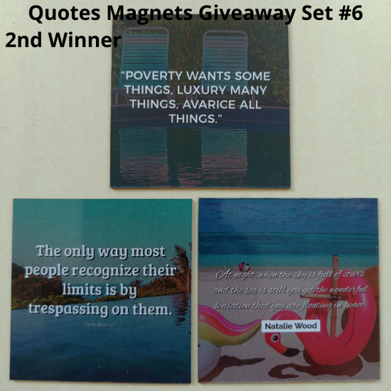 Giveaway Quotes Magnets Set 6 - 2nd winner