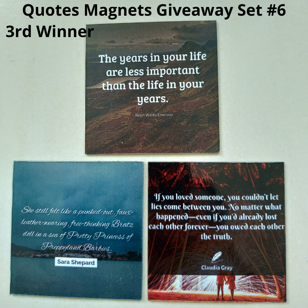 Giveaway Quotes Magnets Set 6 - 3rd winner