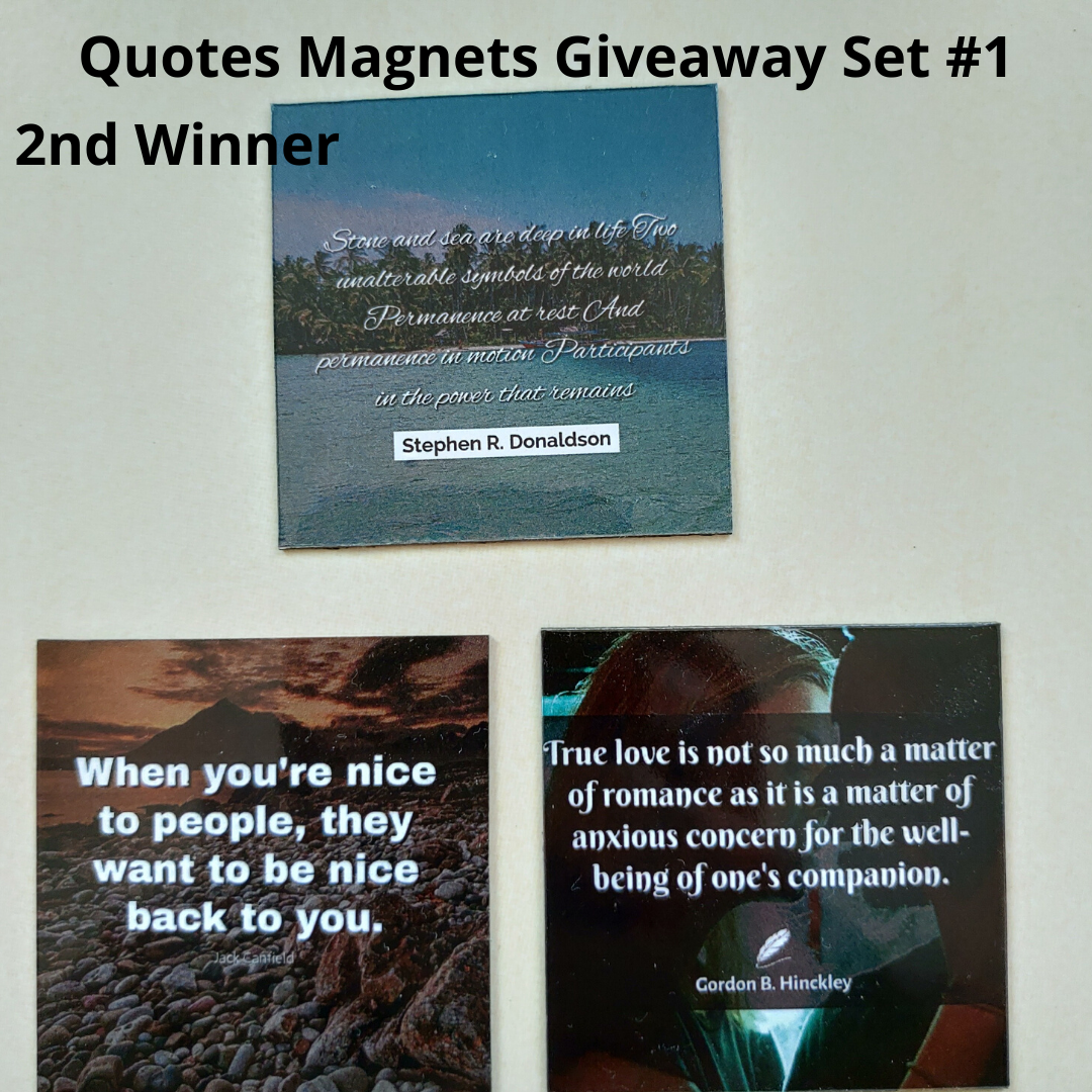 Giveaway Quotes Magnets Set 1 - 2nd winner