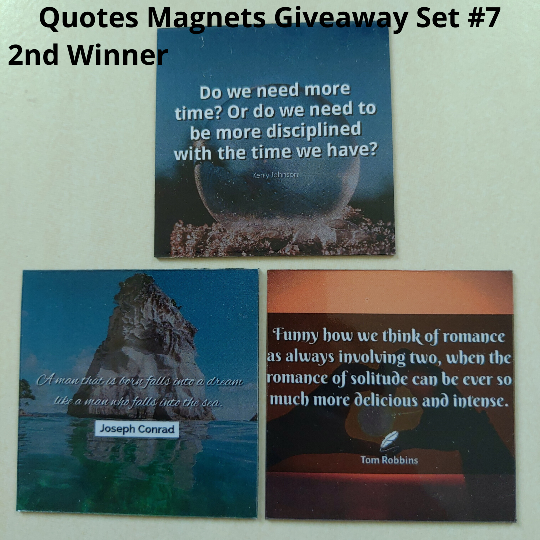 Giveaway Quotes Magnets Set 7 - 2nd winner