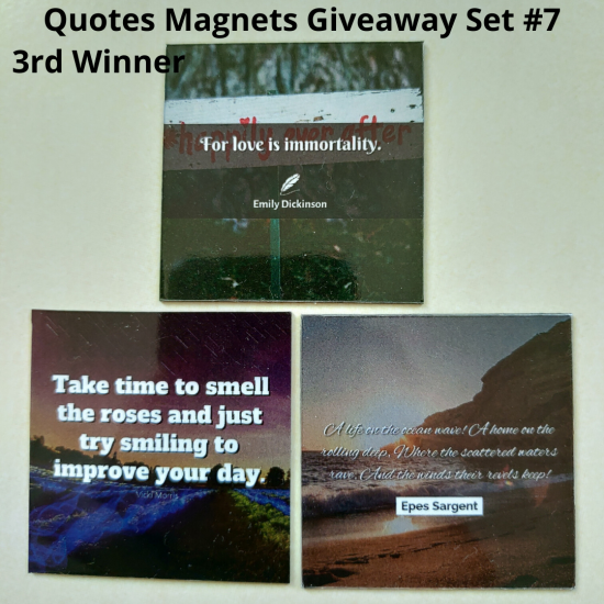 Giveaway Quotes Magnets Set 7 - 3rd winner