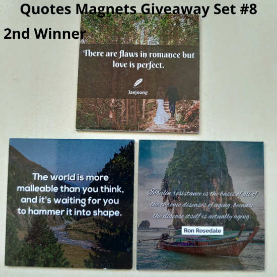 Giveaway Quotes Magnets Set 8 - 2nd winner