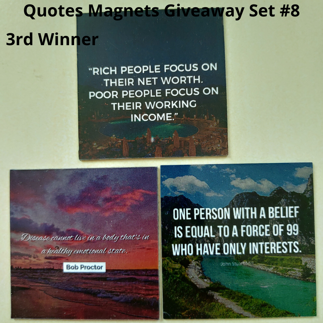 Giveaway Quotes Magnets Set 8 - 3rd winner
