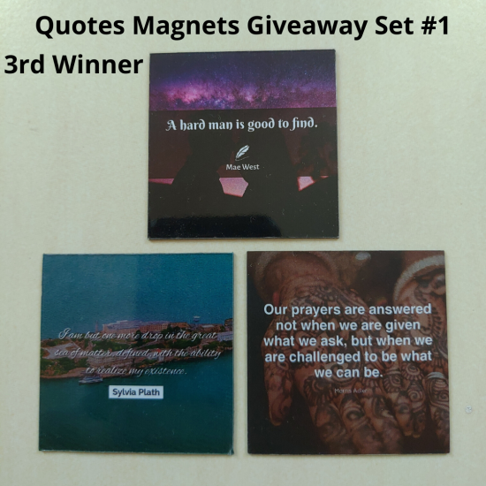 Giveaway Quotes Magnets Set 1 - 3rd winner