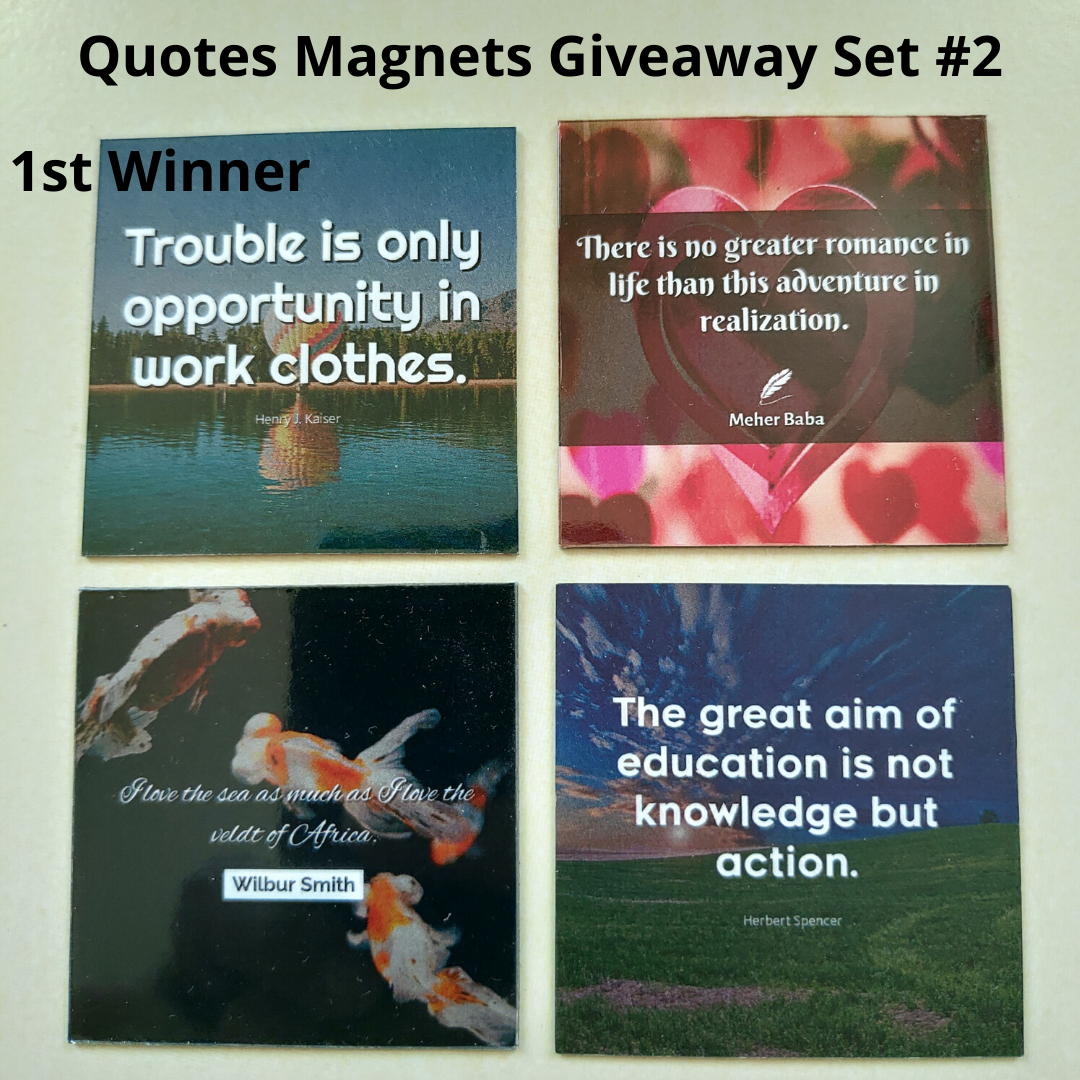 Giveaway Quotes Magnets Set 2 - 1st winner