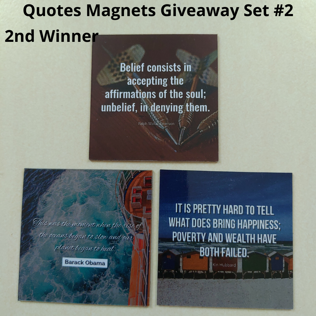 Giveaway Quotes Magnets Set 2 - 2nd winner