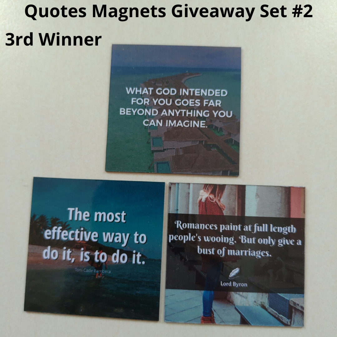 Giveaway Quotes Magnets Ser 2 - 3rd winner