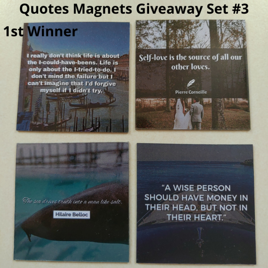Giveaway Quotes Magnets Set 3 - 1st winner