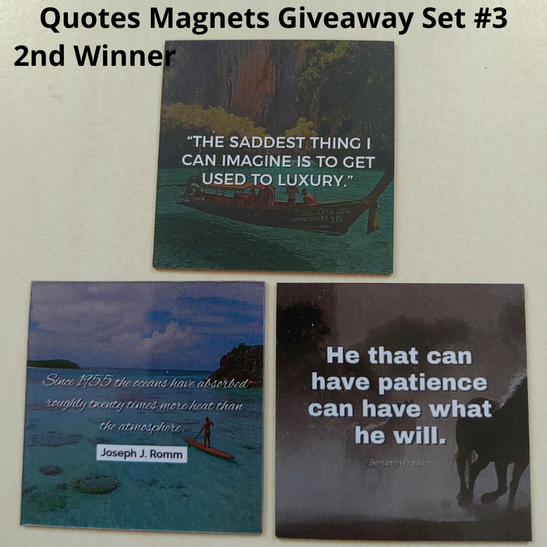 Giveaway Quotes Magnets Set 3 - 2nd winner