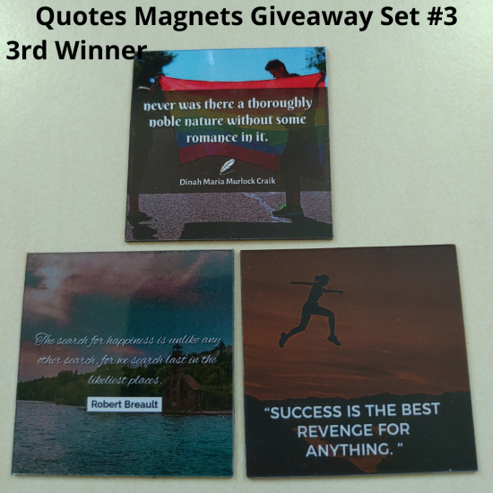 Giveaway Quotes Magnets Set 3 - 3rd winner