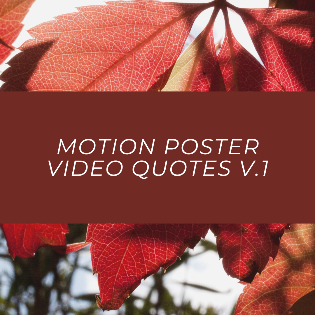 Motion Poster Video Quotes v.1
