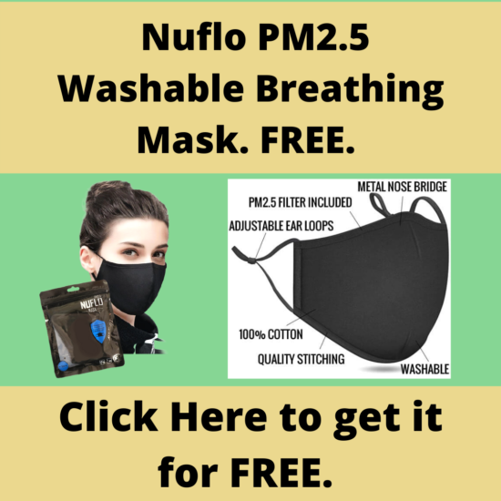 Nuflo PM2.5 Washable and Reusable Breathing Mask