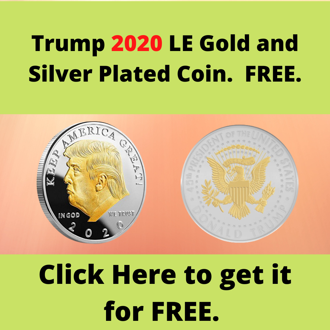 Trump 2020 Limited Edition Gold and Silver Plated Coin