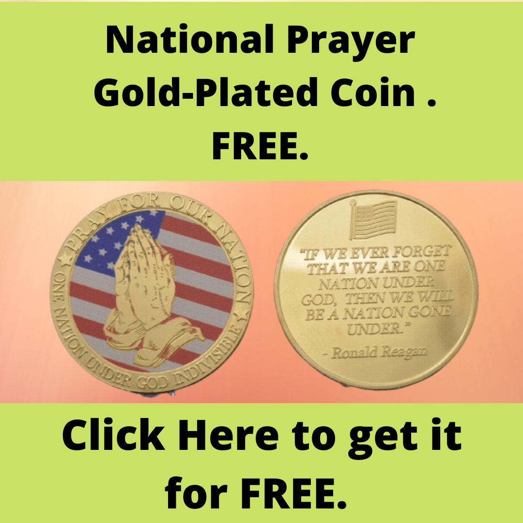 National Prayer Gold-Plated Coin